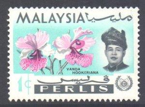 Malaya Perlis Scott 40 - SG41, 1965 Orchids 1c MH*