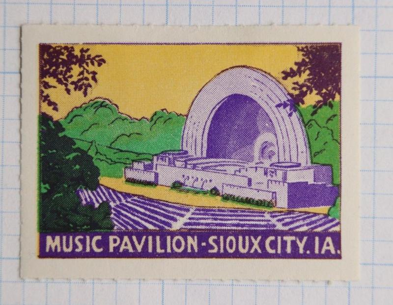 Sioux City IA Grandview Park Music Pavilion tour poster ad 1935 CWA Project 217