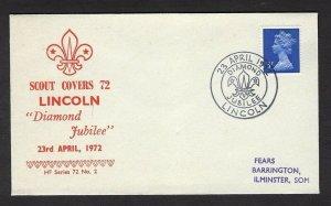 1972 UK Great Britain Boy Scouts Lincoln Golden Jubilee cancel