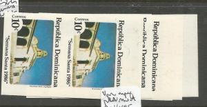 Dominican Republic SC 963-7 Imperf Pairs MNH (3cuv)