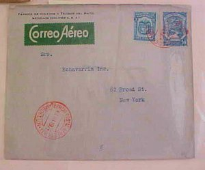 COLOMBIA  SCADTA LOCAL POST WITH ANTI THEFT BOMB 1924 MEDELIN #C42