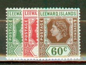 S: Leeward Islands 133-147 mint CV $67.75; scan shows only a few
