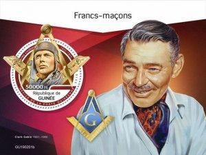 GUINEA - 2019 - Freemasons - Perf Souv Sheet - M N H