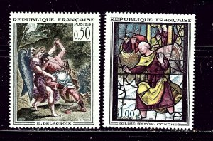 France 1054-55 MNH 1963 Paintings