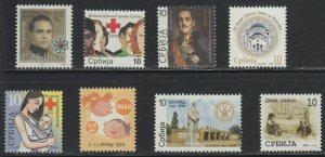 SERBIA 2009 Surcharge stamps complete year SET MNH
