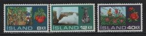 ICELAND, 443-445, MNH, 1972, GARDENING
