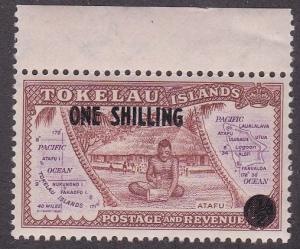 Tokelau  # 5, Island Scene Surcharged, NH, 1/2 Cat.