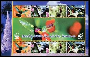 Dominica Scott 2520 (2005) Mint NH VF World Wildlife Fund Sheet C