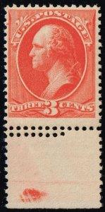 US #214 George Washington Double Perfs; MNH (3Stars)
