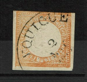 Peru SC# 15 Used / Yquique CDS / Hinge Rem / Tiny VERY Shallow Thin - S8830