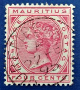 Mauritius Scott # 60 Used (A187)