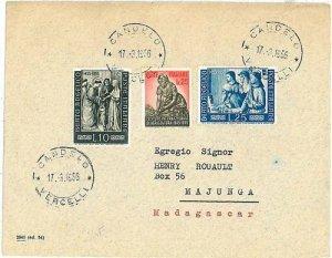 05741   ITALIA REPUBBLICA: BUSTA DESTINAZIONE: MADAGASCAR  1956