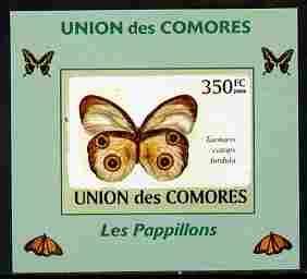Comoro Islands 2009 Butterflies #6 individual imperf delu...