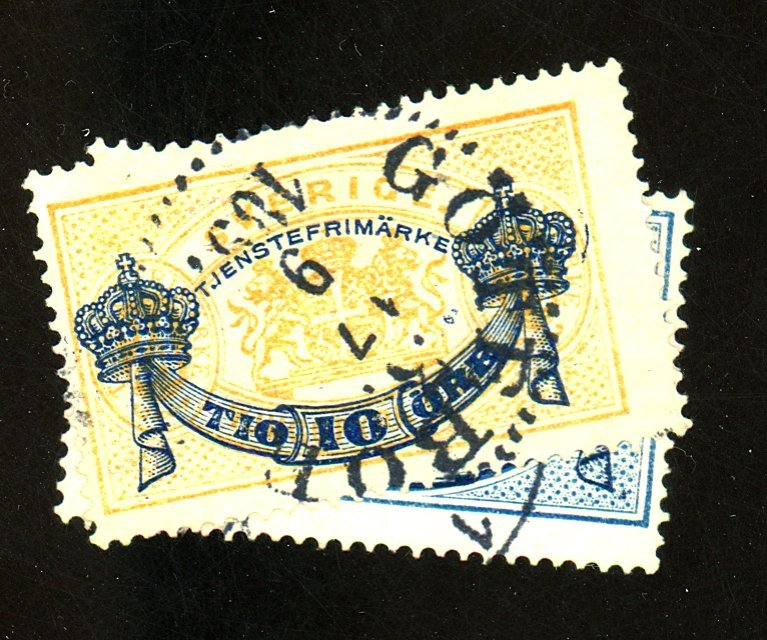 Sweden #O16-7 Used F-VF Cat $ 43.00
