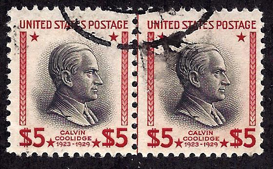 834 Used... Pair... SCV $6.00... w/Vertical Guide Line