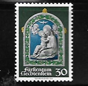 LIECHTENSTEIN, 491, MNH, CHRISTMAS 1971