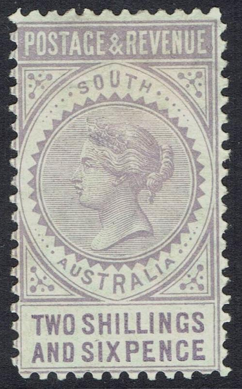 SOUTH AUSTRALIA 1886 QV POSTAGE AND REVENUE 2/6 PERF 10