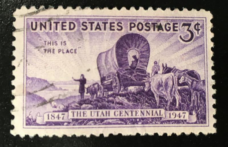 950 Utah, circulated single, fine condition, NH, Vic's Stamp Stash