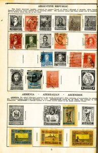 Worldwide Adventure Album Postage Stamps Of The World