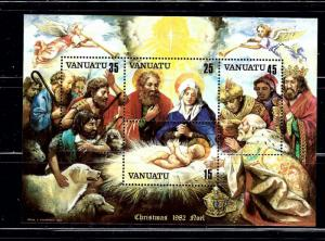 Vanuatu 345a 1982 Christmas souvenir sheet