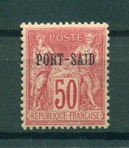 French Offices in Egypt Port Said sc# 12 mh cat val $20.00