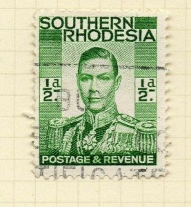 Southern Rhodesia 1937 Early Issue Fine Used 1/2d. NW-14390
