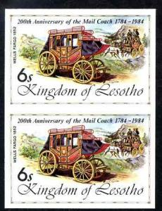 Lesotho 1984 Wells Fargo Coach 6s (from 'Ausipex' Stamp E...