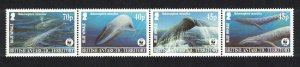 BAT WWF Blue Whale Strip of 4v SG#361-364 MI#353-356 SC#326-329