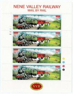(I.B) Cinderella Collection : Nene Valley Railway Mini-Sheet 25p
