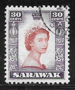Sarawak 207: 30c Elizabeth II, used, F-VF