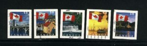Canada #2076-80  -4  used VF 2004 PD