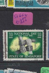 SINGAPORE  (PP2901B)  NATIONAL DAY  SG 61-2   VFU
