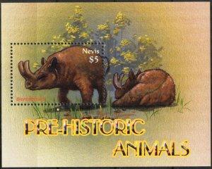 Nevis 2005 Prehistory Animals Dinosaurs (2) S/S MNH