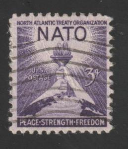 SC# 1008 - (3c) - NATO, used single