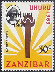 Zanzibar # 301 mnh ~ 30¢ Sultan, Zanzibar Clove