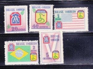 Brazil 635-639 Set MH Various (A)