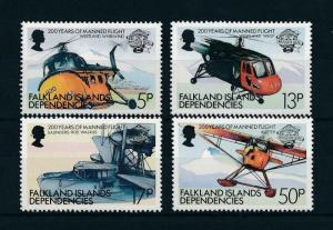 [98120] Falkland Islands Dependencies 1983 Aviation Aircrafts Helicopter  MNH