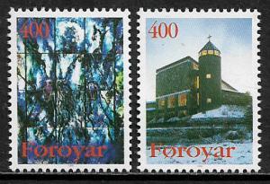 Faroe Is #293-4 MNH Set - Church