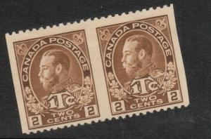 Canada #MR4ii Mint Fine - Very Fine Imperf Pair - Unused (No Gum) As Issued