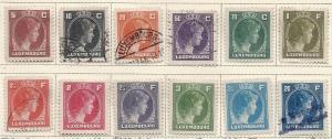 Luxembourg  #218-234 (U&M) CV $35.10