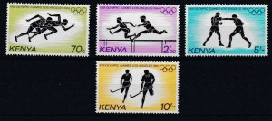 KENYA 1984 OLYMPIC GAMES SET OF 4   MNH