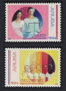 Aruba Equality 2v 1992 MNH SG#110-111