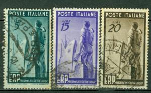 Italy Scott 515-517 used 1949 shipbuilder stamp set CV$56