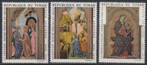 1970 Chad 338-340 Paintings 3,20 €