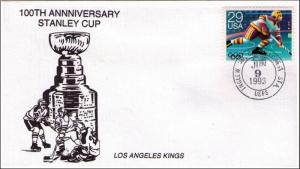 HOCKEY 100th ANNIVERSARY STANLEY CUP LOS ANGELES KINGS ERROR ANNNIVERSARY COVER