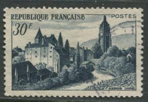 France - Scott 658 - General Issue -1951 - FU -Single 30fr Stamp