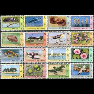 ANGUILLA 1977 - Scott# 275-90 Fauna and Flor Set of 16 NH