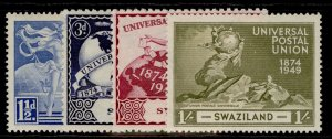 SWAZILAND GVI SG48-51, anniversary of UPU set, M MINT.