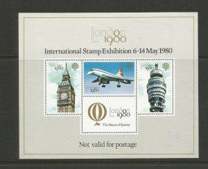Great Britain London 1980 International Stamp Exhibition Cinderella Sheet