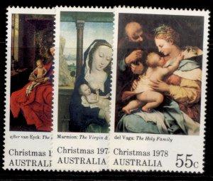 AUSTRALIA QEII SG696-698, 1978 Christmas set, NH MINT.